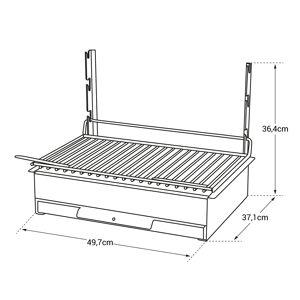 Le Marquier - Barbecue au charbon de bois VULCAIN 48 × 28 - Publicité