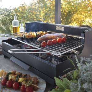 Le Marquier - Barbecue au charbon de bois VULCAIN 54 × 32 - Publicité