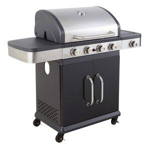 Cook'in Garden - Barbecue au gaz FIDGI 4 avec thermomètre - 4 brûleurs + réchaud 14,5kW - Publicité