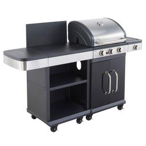 Cook'in Garden - Barbecue au gaz FIDGI 3 avec desserte - Publicité