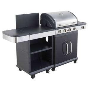 Cook'in Garden - Barbecue au gaz FIDGI 4 avec desserte - Publicité