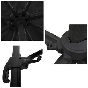 Happy Garden Parasol déporté MOLOKAI rectangulaire 3x4m noir - Publicité