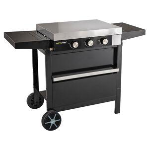 Cook'in Garden - Plancha gaz en fonte FINESTA sur chariot - 3 brûleurs - Publicité