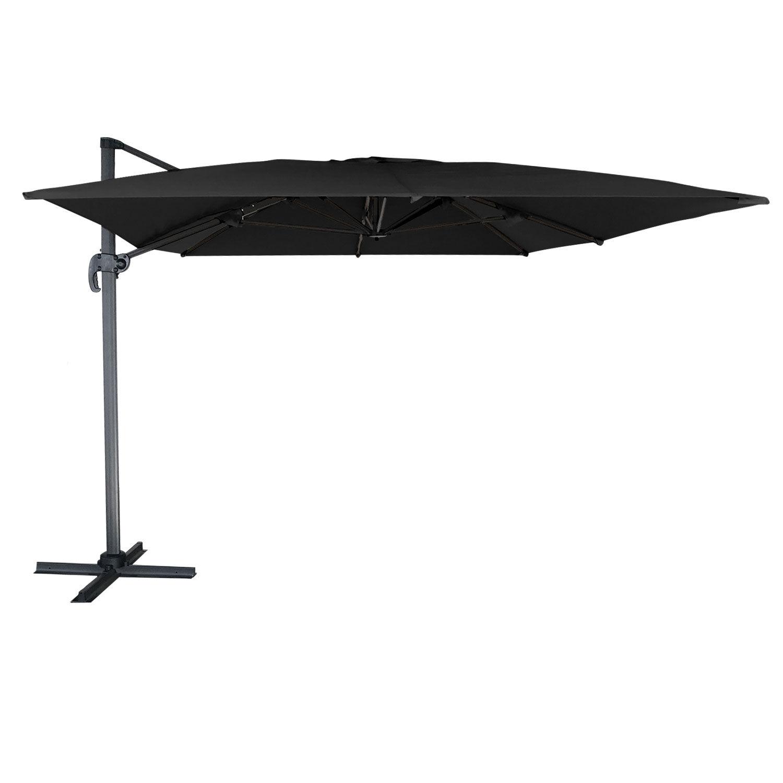 Happy Garden Parasol déporté MOLOKAI rectangulaire 3x4m noir