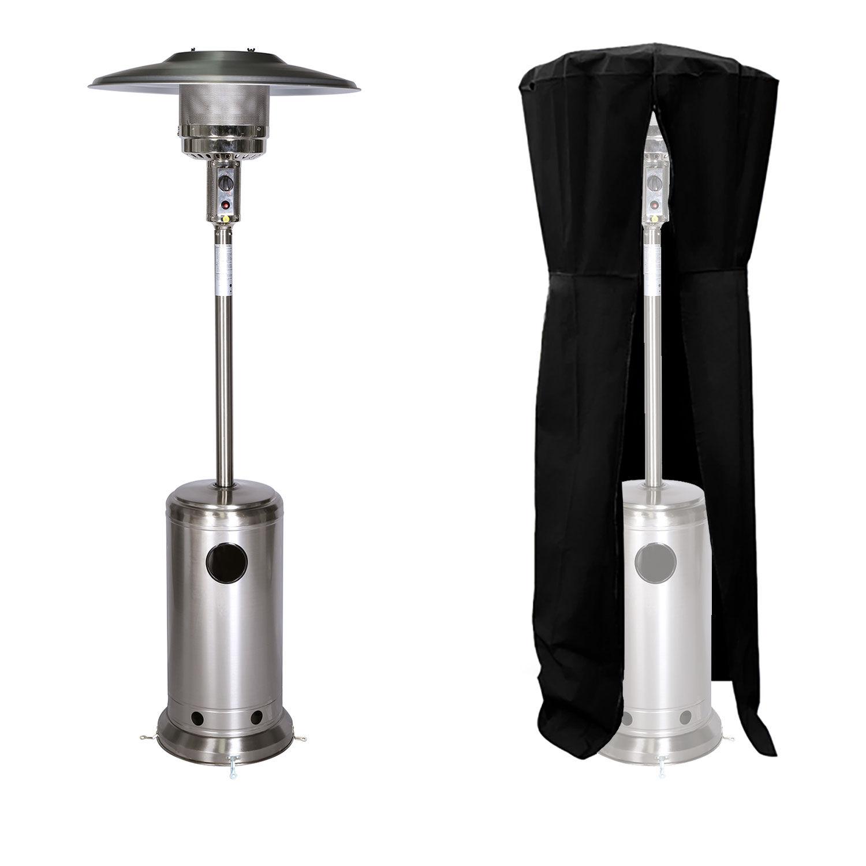 Happy Garden Parasol chauffant OSLO - chauffage d'extérieur gaz - acier inox + housse