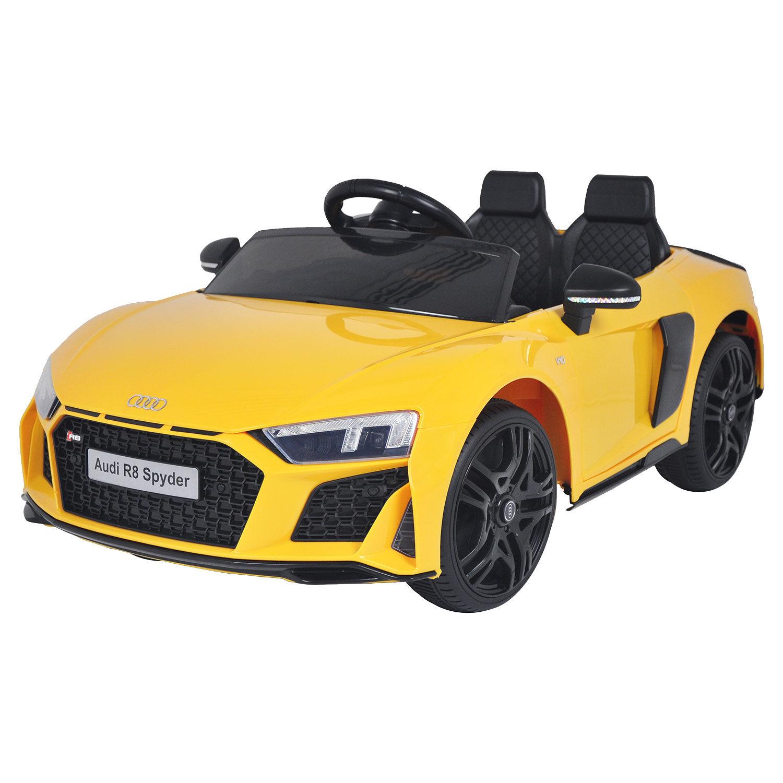 Happy Garden Voiture électrique AUDI R8 SPYDER - jaune