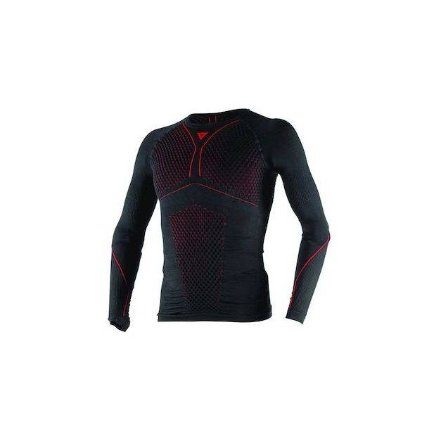 Dainese Chemise technique Moto Homme Dainese D-CORE THERMO TEE LS Noir/Rouge Taille:XS/S