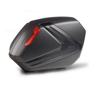 Givi V37NN - Givi Paires Valises Laterales Noir Réflecteurs Rouges Carbon Cover 37 LT - Publicité