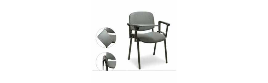 Metalchaise UFFICIO ISO T2 - CHAISE BUREAU AVEC ACC. ET TABLETTE EN TISSU, maison, école, hôtel