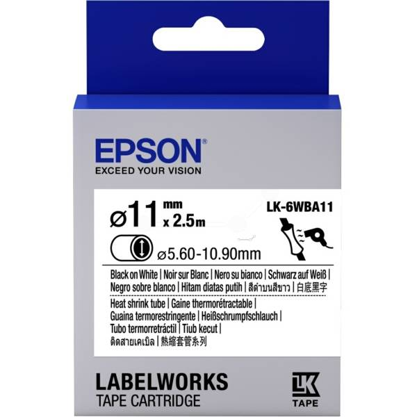 Epson D'origine Epson C 53 S 656902 / LK-6WBA11 ruban embossing multicolor 11mm x 2,5m - remplace Epson C53S656902 / LK6WBA11 ruban