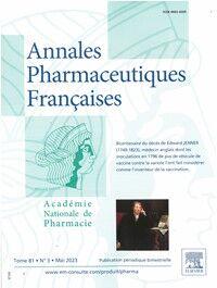 Annales Pharmaceutiques Françaises - Abonnement 12 mois