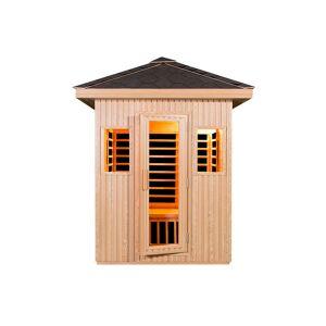 Snö Sauna Infrarouge Extérieur en Bois Dome 3 places 2400 W - Publicité