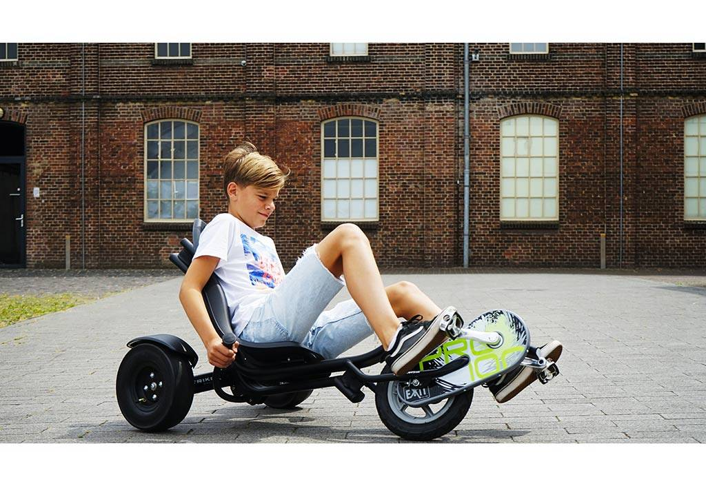 Exit Toys Tricycle Couché pour Enfant Trike Pro 100 Noir