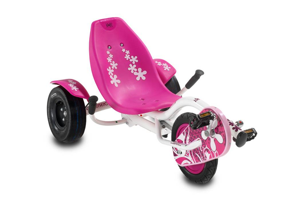 Exit Toys Tricycle Couché pour Enfant Triker Lady Rocker Rose