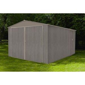 Chalêt-Jardin Garage en Métal Look Bois Vieilli 17,47 m² 1 Voiture - Publicité