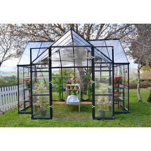 Palram Serre de jardin polycarbonate et aluminium Orangerie - 11 m² - Publicité