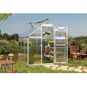 Canopia Serre de Jardin Grise Polycarbonate Aluminium 2 x 2 m – Mythos 6x6 - Publicité