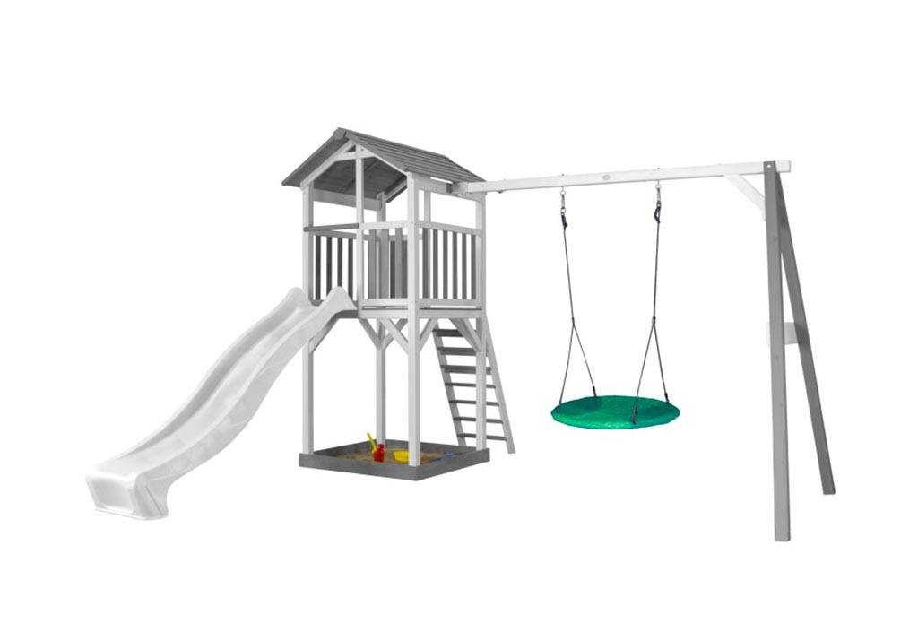 Axi Aire de Jeux en Bois de Hemlock Portique Nid d'Oiseau Beach Tower