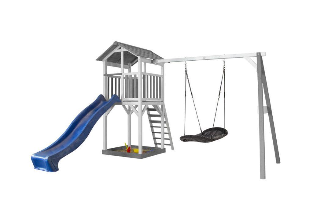 Axi Aire de Jeux en Bois de Hemlock Portique Nid d'Oiseau Ovale Beach Tower