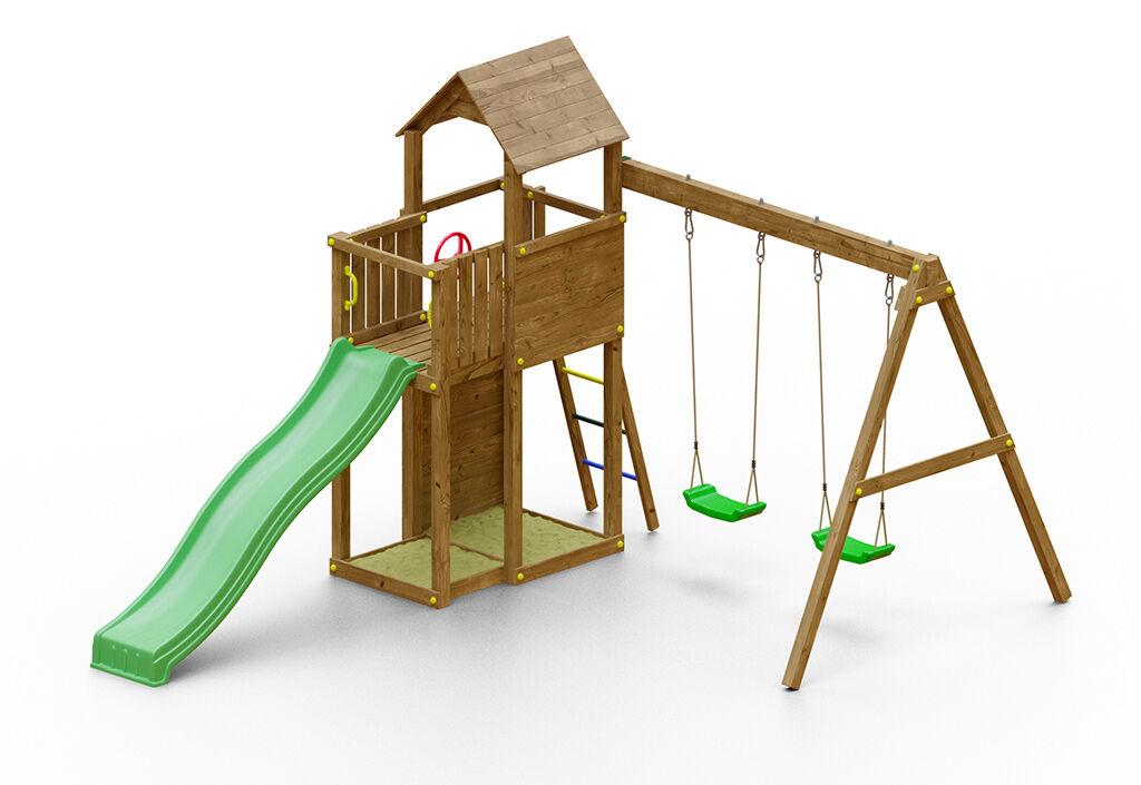 Fungoo. Aire de Jeux avec Portique en Bois de Pin Traité Boomer 3