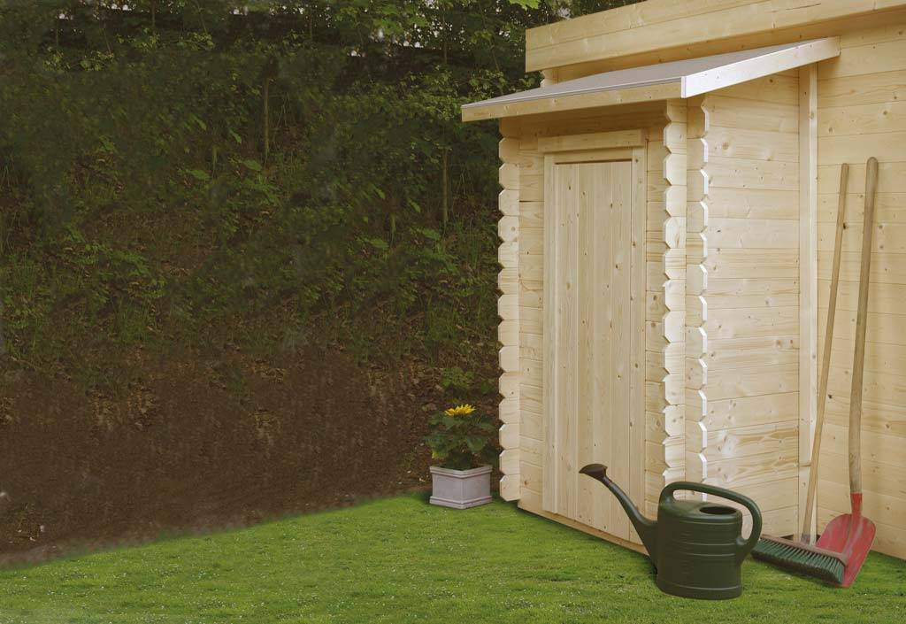 solid armoire jardin bois adossée pour abris solid (1 porte)