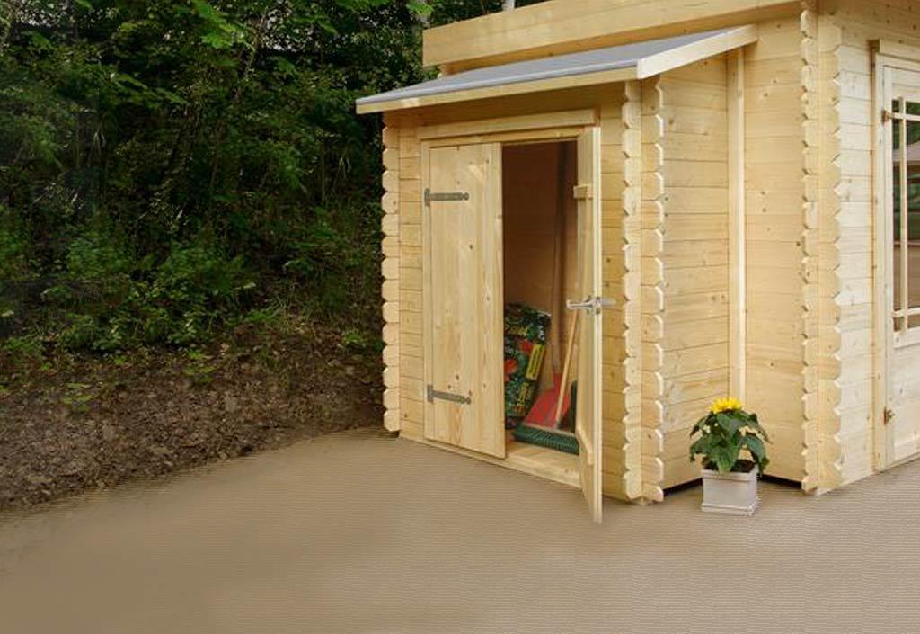 solid armoire jardin bois adossée pour abris solid (2 portes)