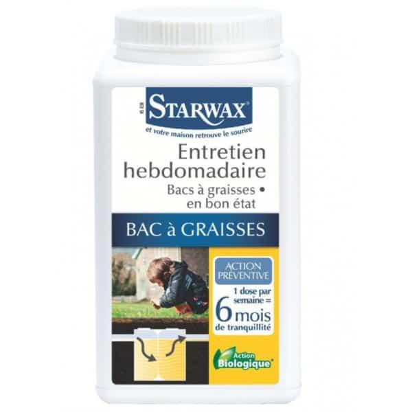 STARWAX Entretien hebdomadaire bacs à graisses Starwax