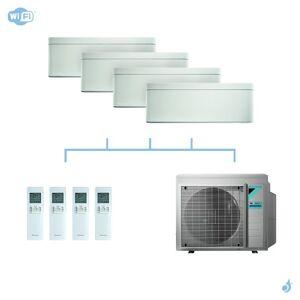 DAIKIN climatisation quadri split mural gaz R32 Stylish White 7,4kW WiFi CTXA15AW+FTXA35AW+FTXA42AW+FTXA50AW+4MXM80N A++