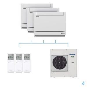PANASONIC climatisation tri split console UFE gaz R32 CS-MZ20UFEA + CS-Z50UFEAW x2 + CU-5Z90TBE 9kW A+++