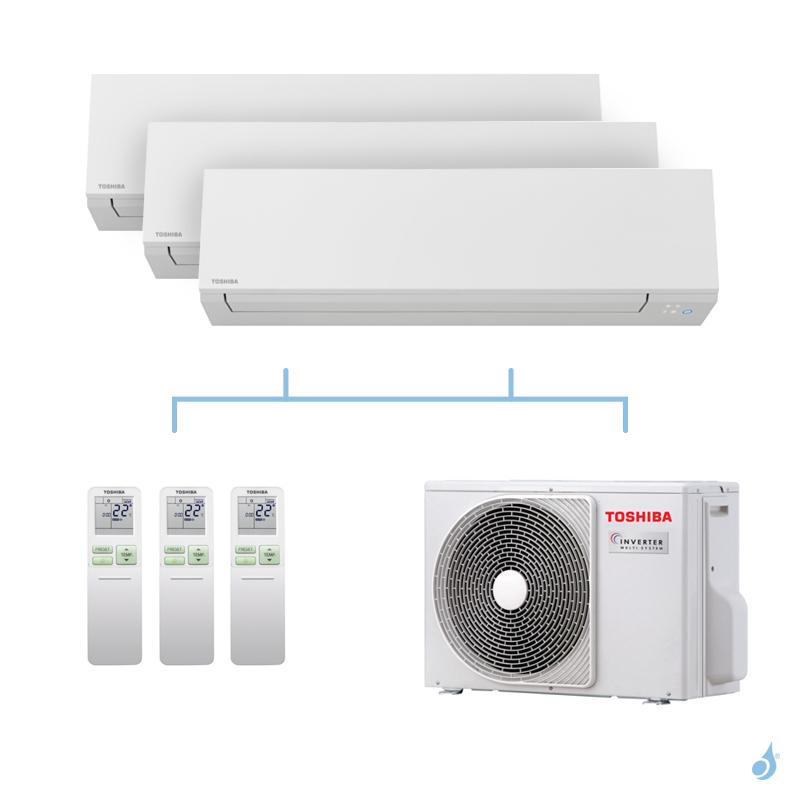 TOSHIBA climatisation Tri splits Shorai + R32 5,2kW RAS-M05J2KVSG-E + RAS-B13J2KVSG-E + RAS-B13J2KVSG-E + RAS-3M18U2AVG-E A++