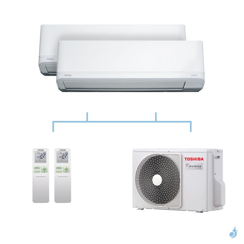 TOSHIBA climatisation bi-splits Daiseikai Light R32 4kW RAS-B13J2KVRG-E + RAS-B13J2KVRG-E + RAS-2M14U2AVG-E A++