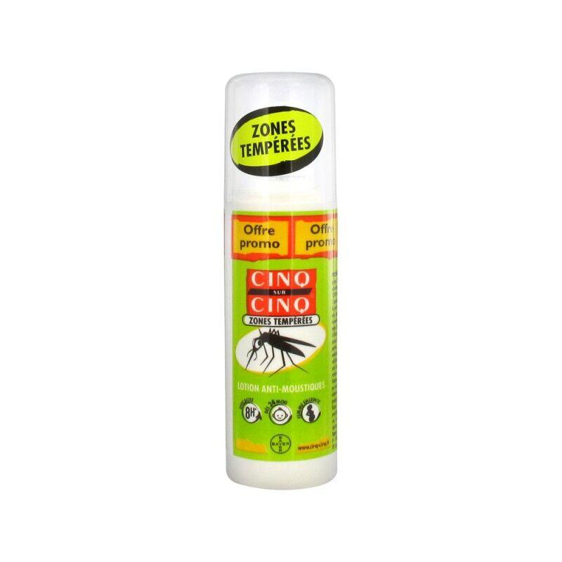 Cinq sur Cinq Lotion Anti-moustiques Zones Tempérées 100 ml