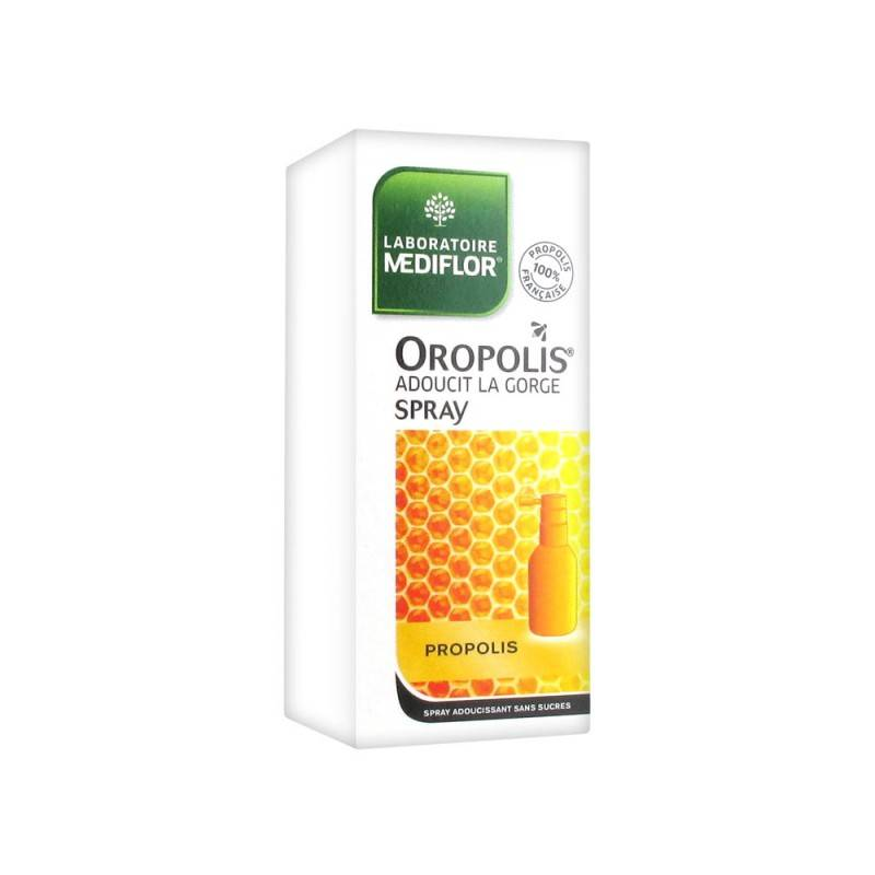Merck médication familiale Oropolis spray adoucissant gorge 20ml
