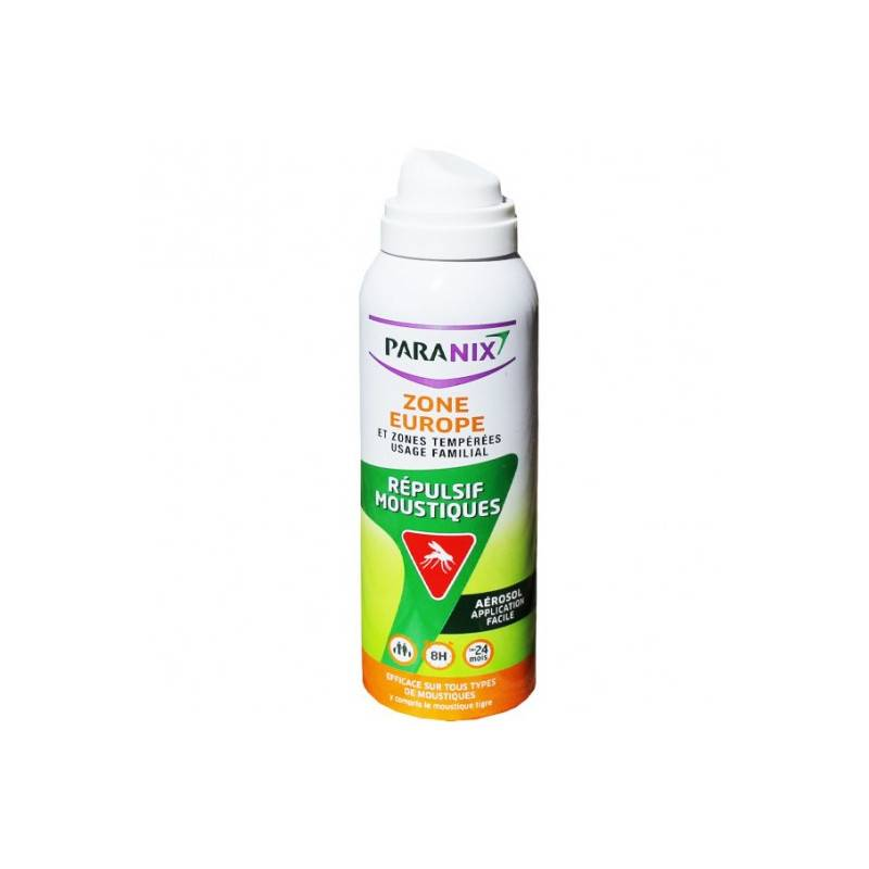 Oméga pharma Paranix aerosol répulsif moustiques zone europe 125ml