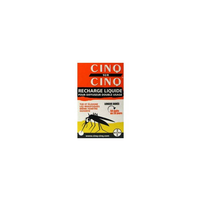 Bausch + Lomb CINQ SUR CINQ Diffuseur Anti-moustique recharge liquide