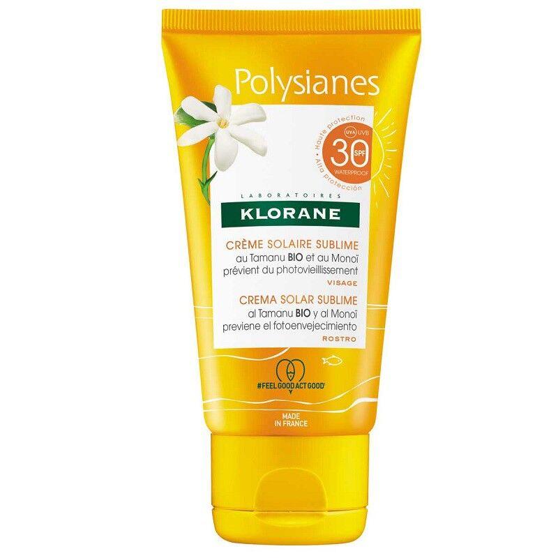 Polysianes Klorane Polysianes Crème solaire sublime visage au Monoï et Tamanu Bio SPF30 - 50ml