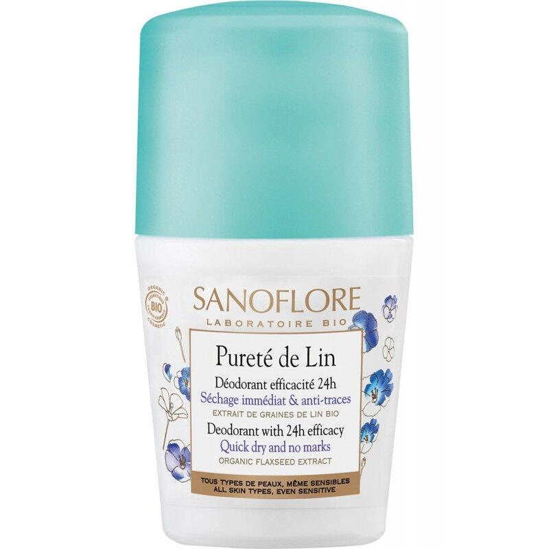 Sanoflore Déodorant efficacité 24h Pureté de Lin Bio - 50ml