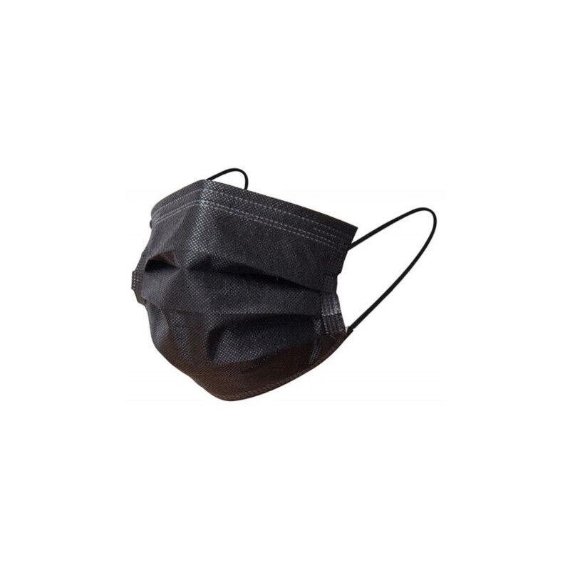 APC masques chirurgicaux noir adulte boîte de 50