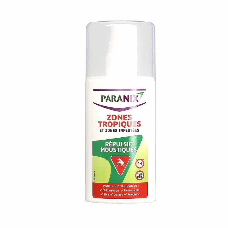 Oméga pharma Paranix spray répulsif moustiques zones tropiques 90ml