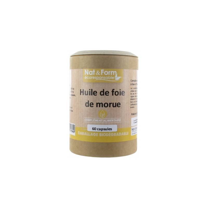 Atlantic Nat&Form Original Huile de foie de morue - 60 capsules