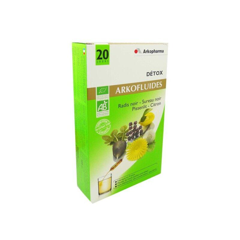 Arkopharma Arkofluide détox bio bte 20 ampoules