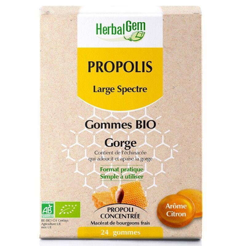 HerbalGem Propolis Bio large spectre - 24 gommes