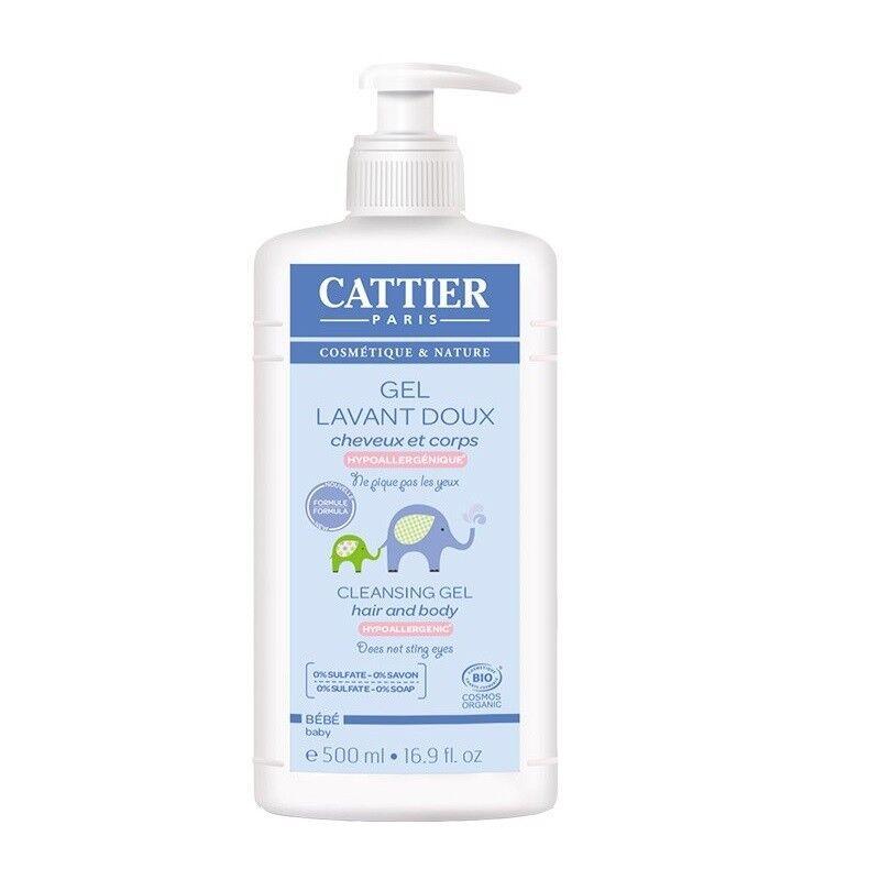 Cattier gel lavant doux bébé Bio - 500ml