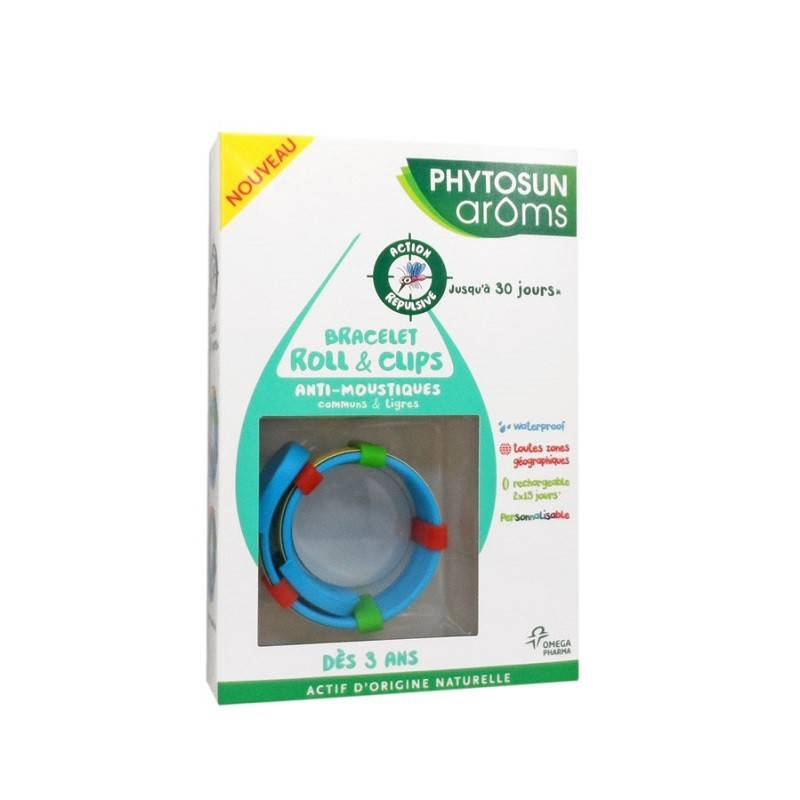 Phytosunarôms Phytosun Âroms Bracelet roll& clips anti-moustiques enfants