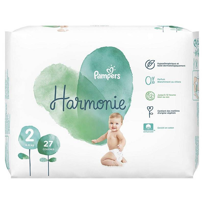 Procter&Gamble Pampers Harmonie Couches T2 (4-8kg) - 39 couches