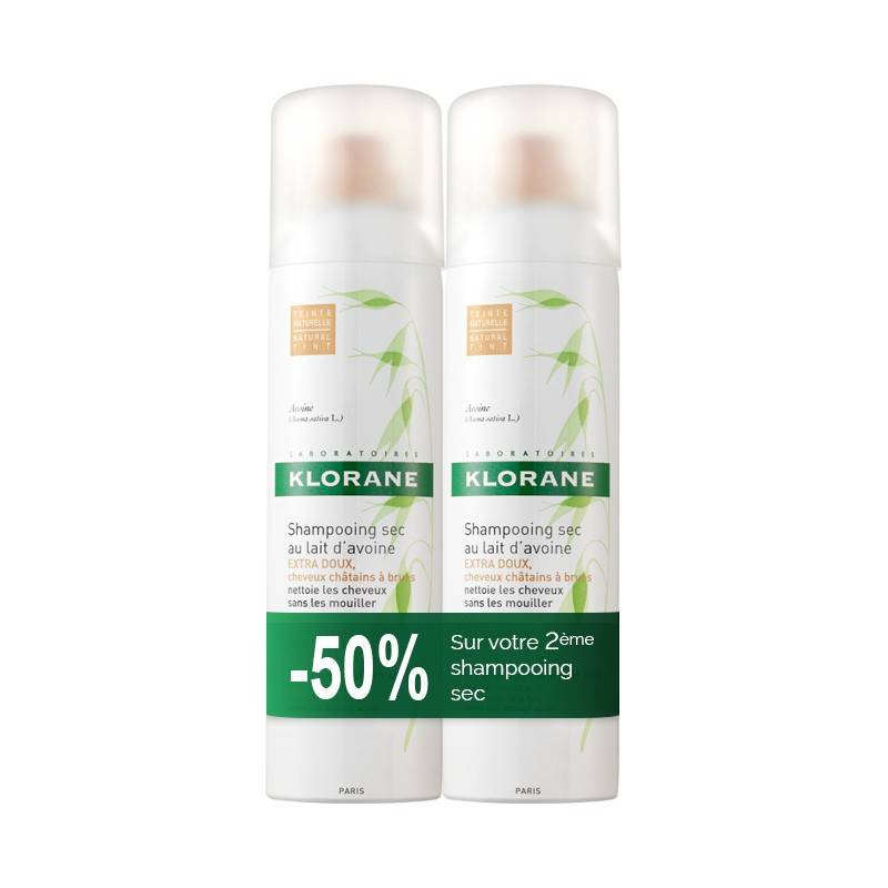 Klorane Shampooing Sec au Lait d'Avoine Spray Lot2 x 150 m