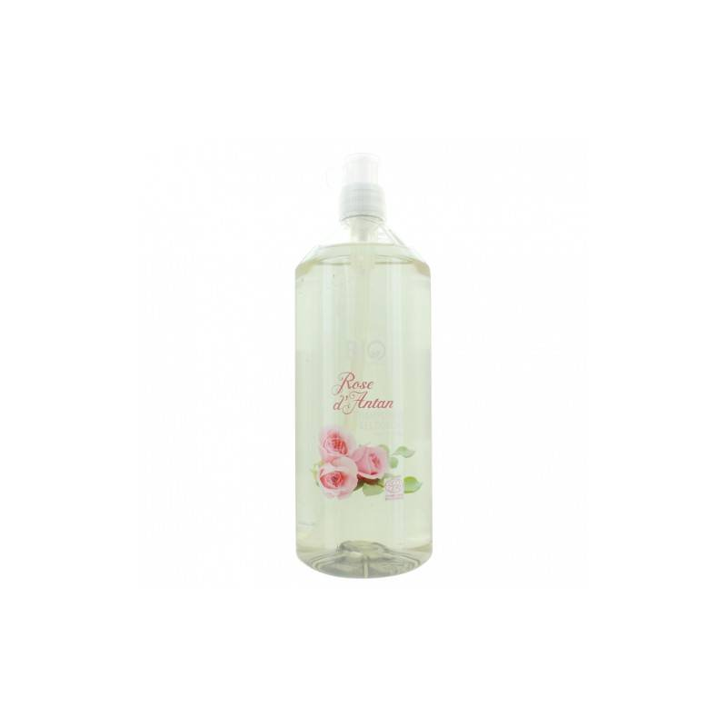 Gravier shampooing gel douche bio rose d'antan 1L