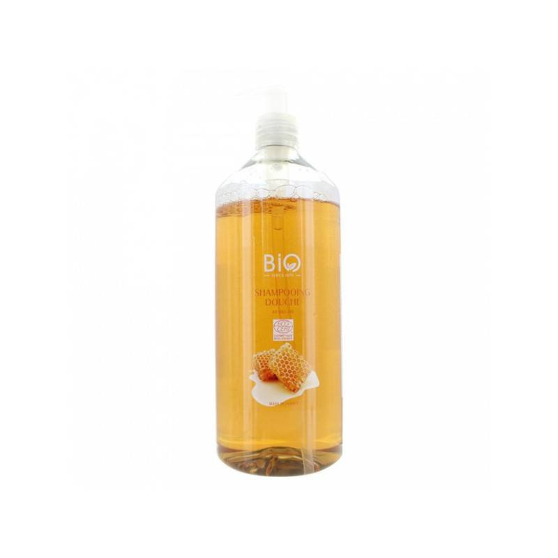 Gravier shampooing douche bio au miel 1L