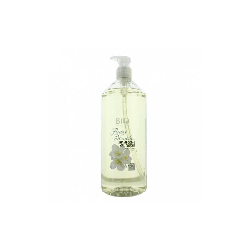 Gravier shampooing douche fleurs blanches 1L