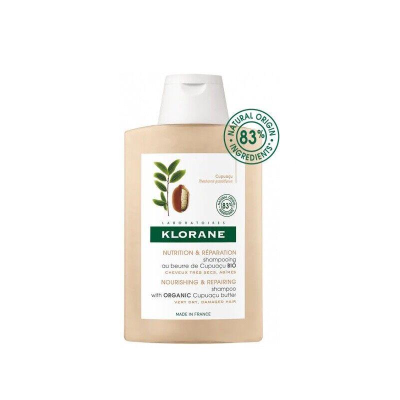 Klorane Shampoing nutrition et réparation au beurre de Cupuaçu Bio - 200ml